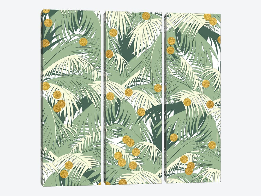 Palm Gold by 83 Oranges 3-piece Canvas Wall Art