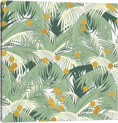 Palm Gold Canvas Art Print