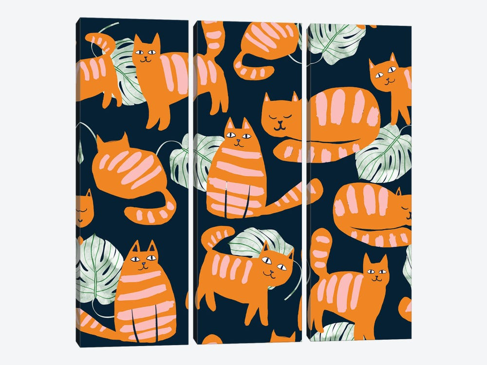 Whimsicat by 83 Oranges 3-piece Canvas Print