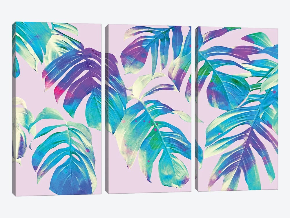 Monstera Leaves by 83 Oranges 3-piece Canvas Print