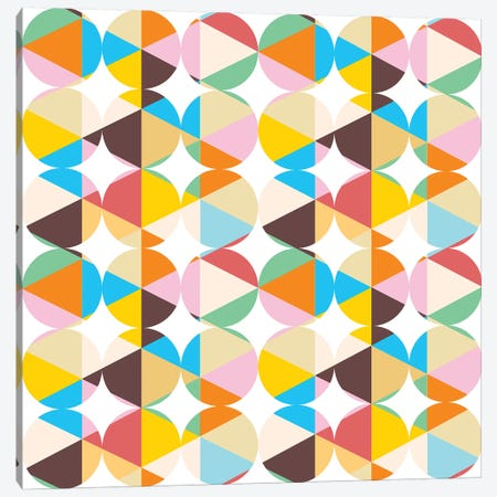 Retro Geometry Canvas Print #UMA62} by 83 Oranges Canvas Print
