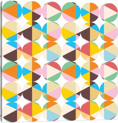 Retro Geometry Canvas Art Print