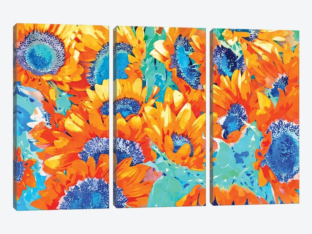 Sunflower Garden by 83 Oranges 3-piece Canvas Artwork