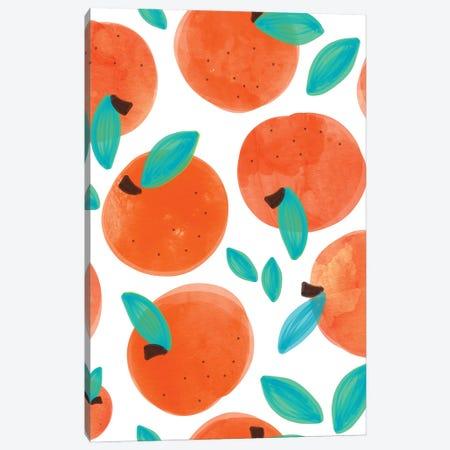 Coral Fruit Canvas Print #UMA700} by 83 Oranges Canvas Wall Art