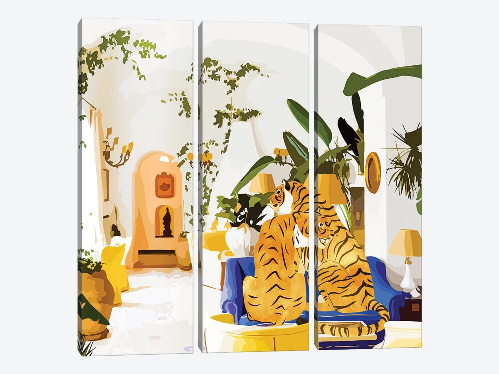 Tiger Reserve by 83 Oranges 3-piece Canvas Print
