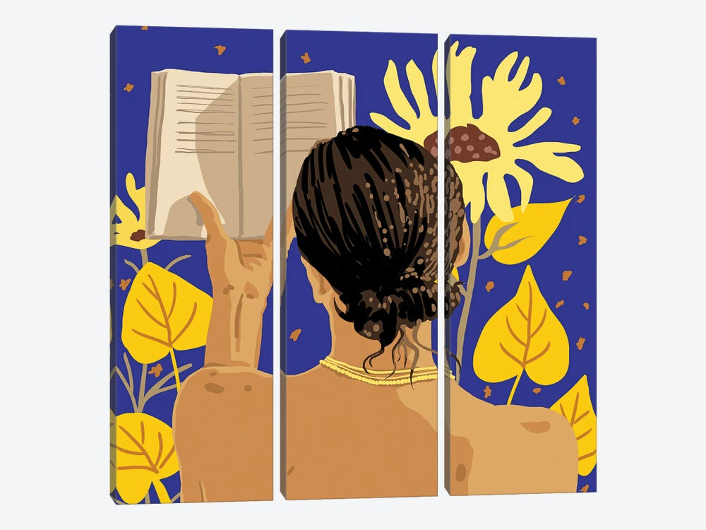 You'Re Never Alone When Lost In The Magic Of A Book by 83 Oranges 3-piece Canvas Artwork