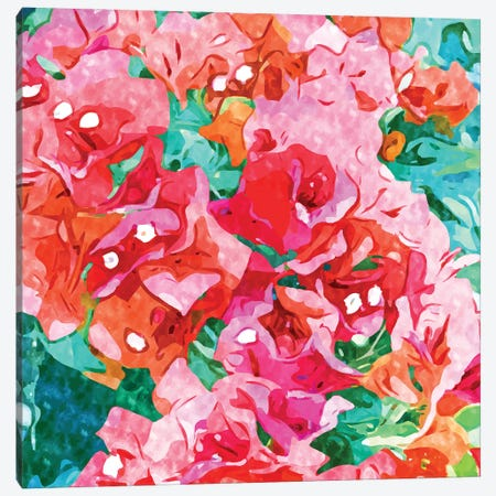 Be Like Bougainvillea, Blooming, Lush, Wild & Unassuming Canvas Print #UMA708} by 83 Oranges Canvas Wall Art
