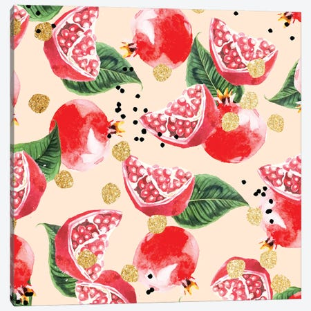 Sweet Pomegranate Canvas Print #UMA70} by 83 Oranges Canvas Artwork