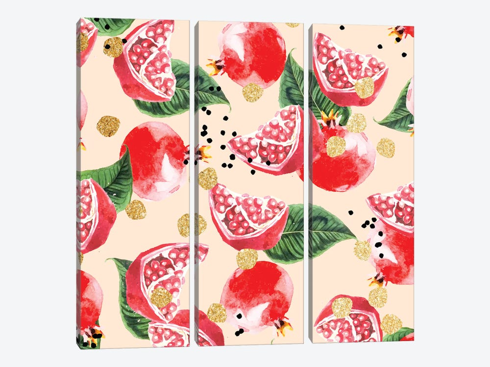 Sweet Pomegranate by 83 Oranges 3-piece Canvas Artwork
