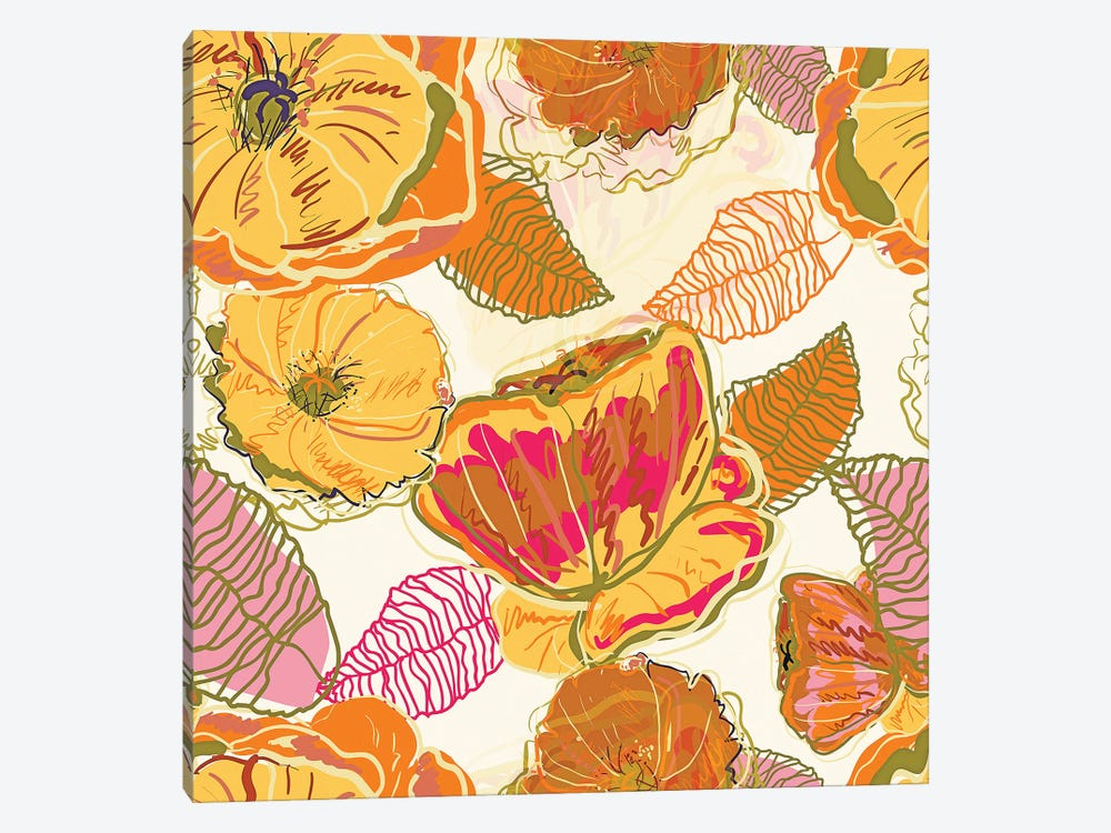 Fall Floral by 83 Oranges 1-piece Canvas Wall Art