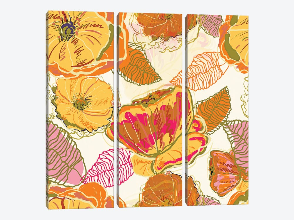 Fall Floral by 83 Oranges 3-piece Canvas Artwork