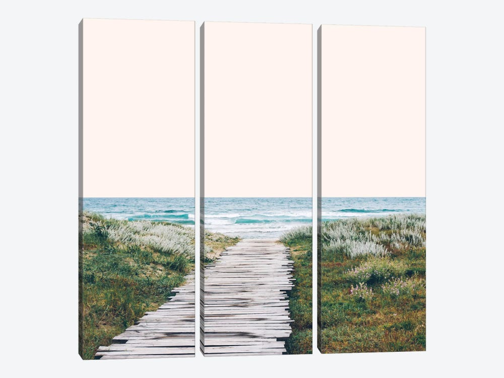 The Ocean Is Calling by 83 Oranges 3-piece Canvas Print