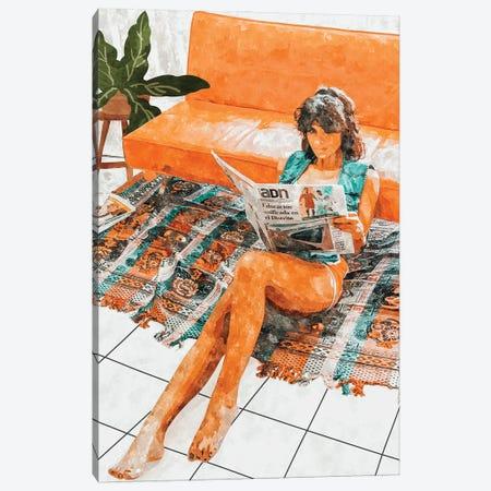 The Gossip Column Canvas Print #UMA745} by 83 Oranges Canvas Art Print