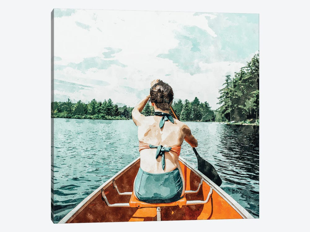Row Your Own Boat by 83 Oranges 1-piece Canvas Print