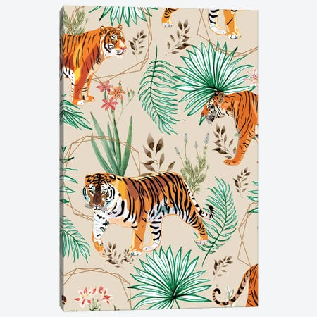 Tropical And Tigers Canvas Print #UMA778} by 83 Oranges Canvas Print