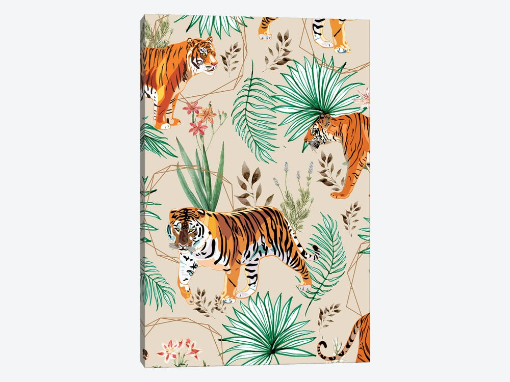 Tropical And Tigers by 83 Oranges 1-piece Canvas Wall Art