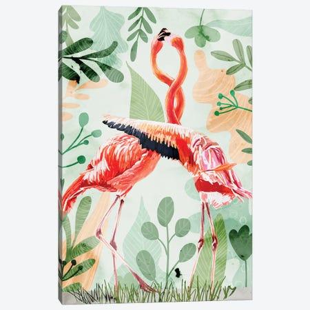 Flamingo Love Canvas Print #UMA780} by 83 Oranges Canvas Wall Art
