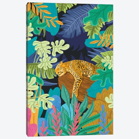 Sleeping Panther Canvas Print #UMA781} by 83 Oranges Canvas Artwork