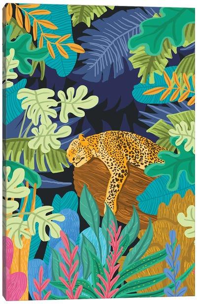 Sleeping Panther Canvas Art Print