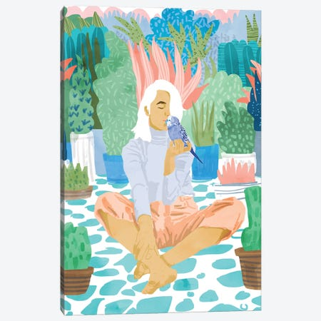 Early Lovebird Canvas Print #UMA789} by 83 Oranges Canvas Wall Art