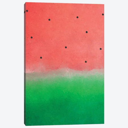 Watermelon Washout Canvas Print #UMA79} by 83 Oranges Canvas Artwork