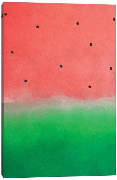 Watermelon Washout Canvas Art Print