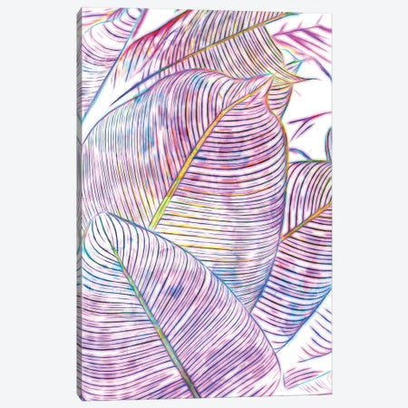 Ultraviolet Banana Leaves Canvas Print #UMA818} by 83 Oranges Canvas Artwork