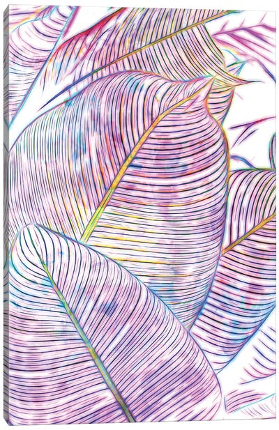 Ultraviolet Banana Leaves Canvas Art Print