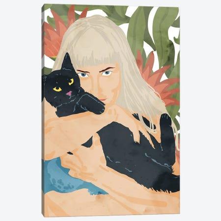 Cat Lady Canvas Print #UMA830} by 83 Oranges Canvas Artwork