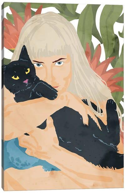 Cat Lady Canvas Art Print
