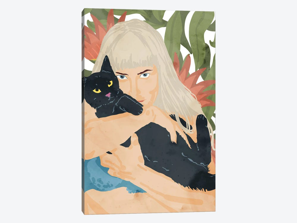 Cat Lady by 83 Oranges 1-piece Canvas Wall Art