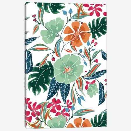 Minty + Rust Floral Canvas Print #UMA832} by 83 Oranges Canvas Art