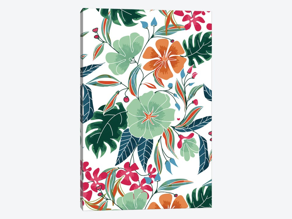 Minty + Rust Floral by 83 Oranges 1-piece Canvas Wall Art