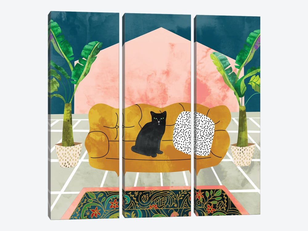 Cat by 83 Oranges 3-piece Canvas Artwork