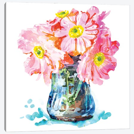 Watercolor Flower Pot Canvas Print #UMA845} by 83 Oranges Canvas Art