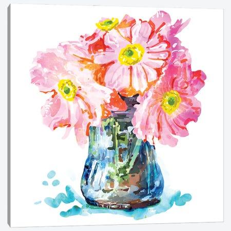 Watercolor Flower Pot Canvas Print #UMA845} by 83 Oranges Canvas Art