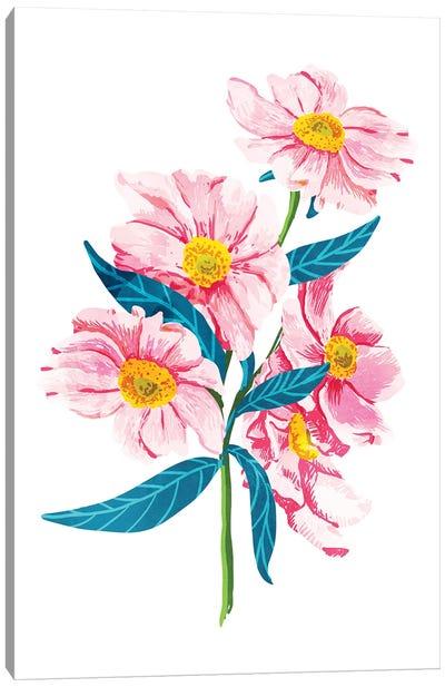 Pink Floral II Canvas Art Print