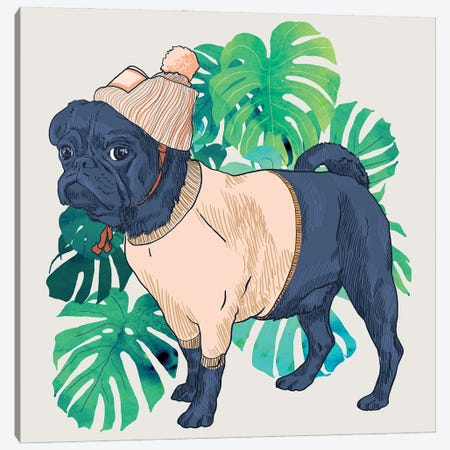Got A Pug? Canvas Print #UMA855} by 83 Oranges Art Print