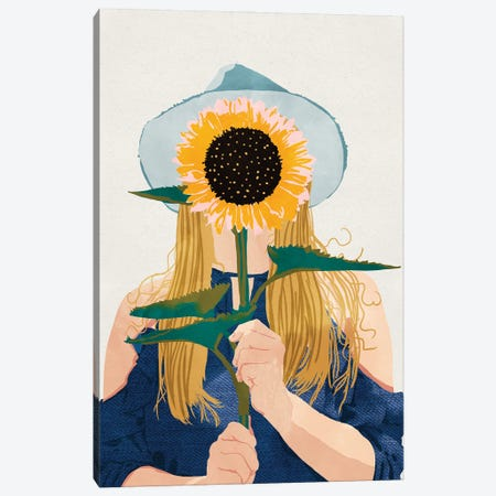 Miss Sunflower II Canvas Print #UMA856} by 83 Oranges Canvas Art Print