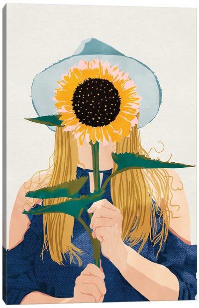 Miss Sunflower II Canvas Art Print