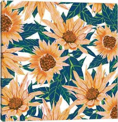 Blush Sunflowers Canvas Art Print