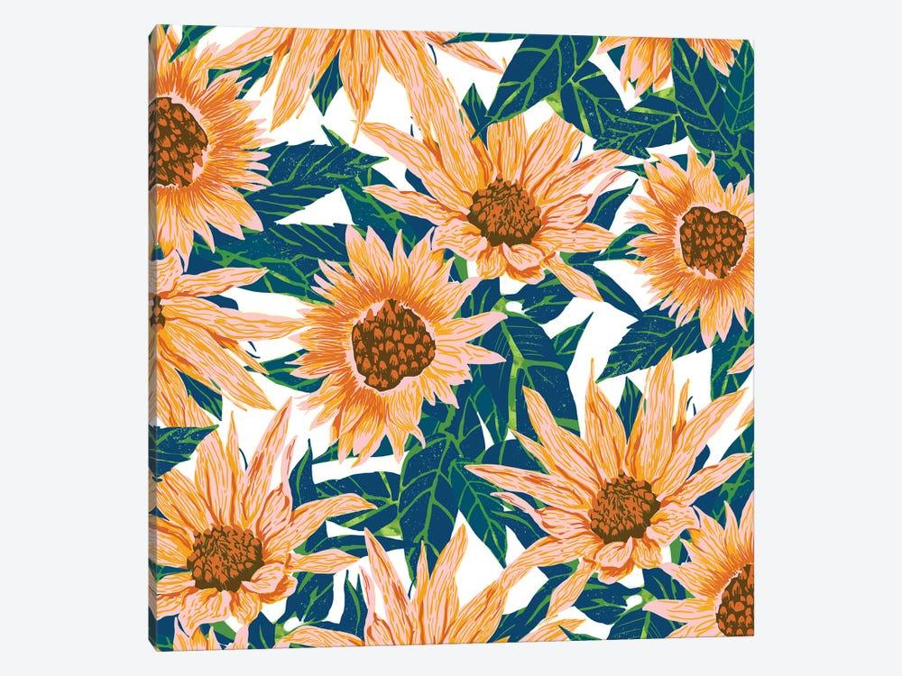 Blush Sunflowers by 83 Oranges 1-piece Canvas Print