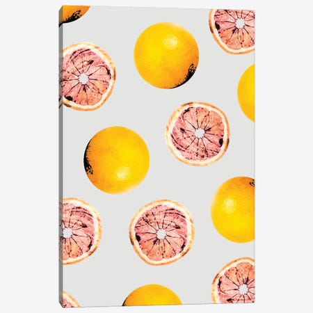 Grapefruit Pattern Canvas Print #UMA86} by 83 Oranges Canvas Artwork