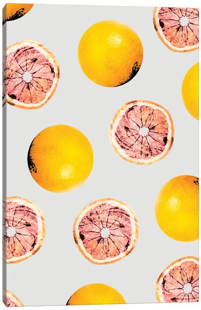 Grapefruit Pattern Canvas Art Print