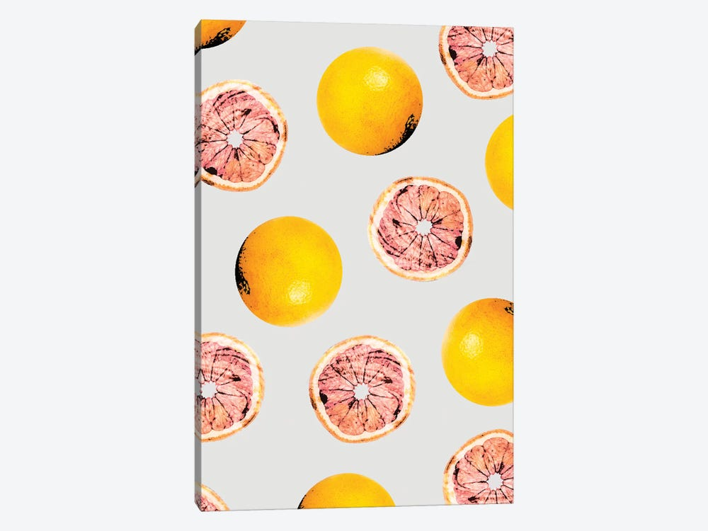 Grapefruit Pattern by 83 Oranges 1-piece Canvas Print