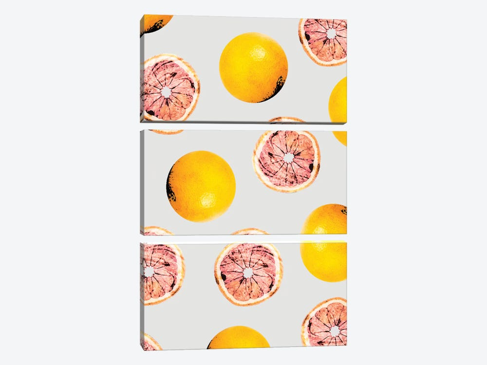 Grapefruit Pattern by 83 Oranges 3-piece Canvas Print
