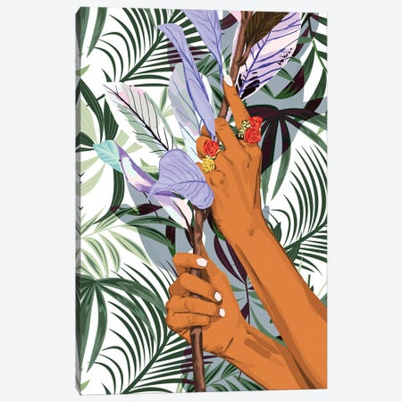 Merging: Nature & Hum Canvas Print #UMA897} by 83 Oranges Art Print