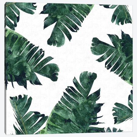 Banana Leaf Watercolor Canvas Print #UMA8} by 83 Oranges Canvas Wall Art