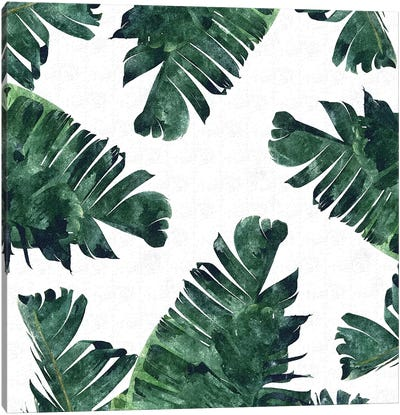 Banana Leaf Watercolor Canvas Art Print