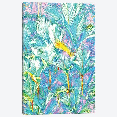 Palm Garden, Tropical Nature Jungle Botanical Painting, Bohemian Intricate Pastel Forest Canvas Print #UMA904} by 83 Oranges Canvas Print